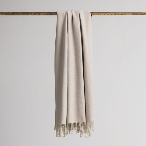 Loom - Merino Cashmere Throw - Putty