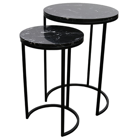 Santo Side Table Nest - Black