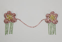 PINK RHINESTONE FLOWER COLLAR PIN