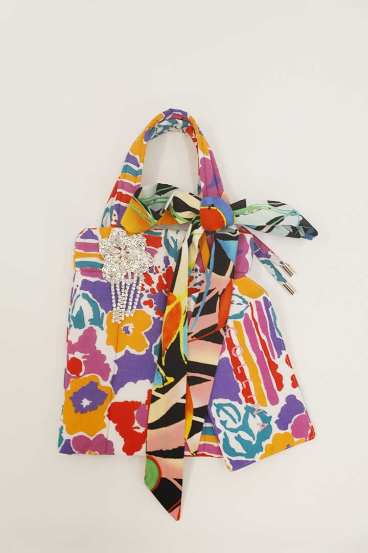 Rainbow Floral Quilted Mémé Bag