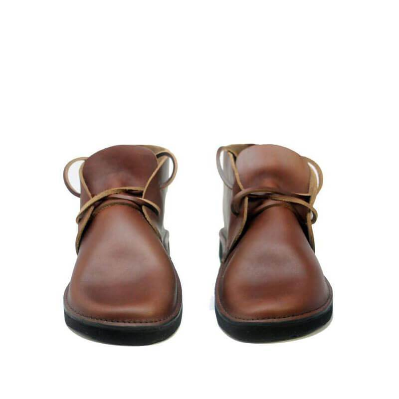 Men's Casual Soft Toe Bread Leather Boots