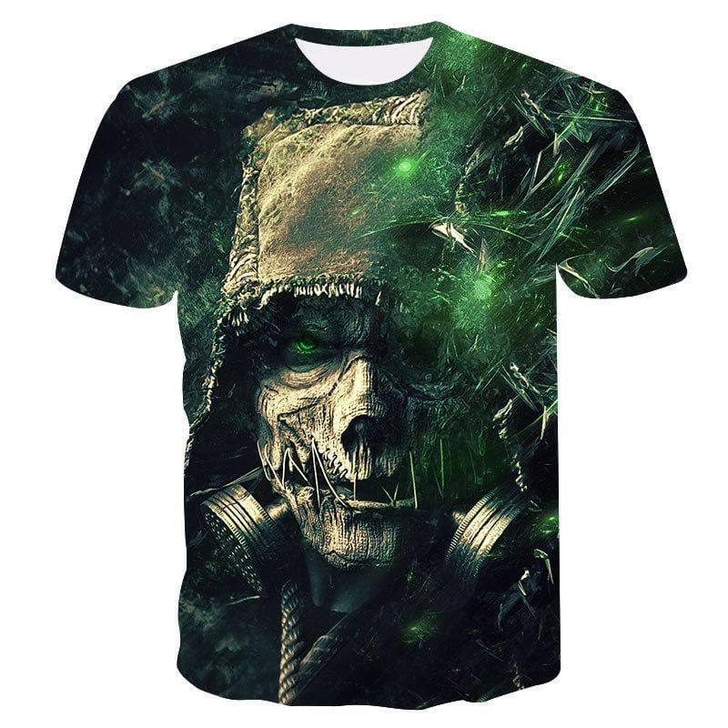 3D Skeleton Printed T-shirt