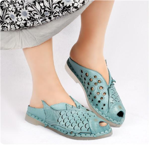 Women's Hollow Fish Mouth Slippers