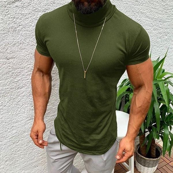 Men's Turtleneck Short Sleeve Tees