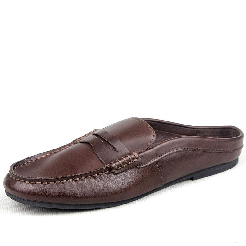 Men's British Style Lok Fu Leather Sandals