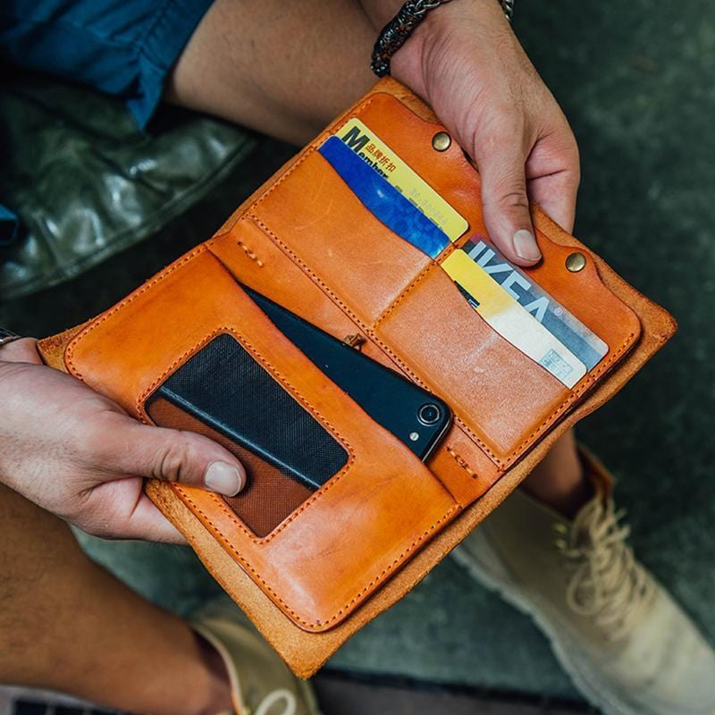 Handmade Leather Multifunction Wallet