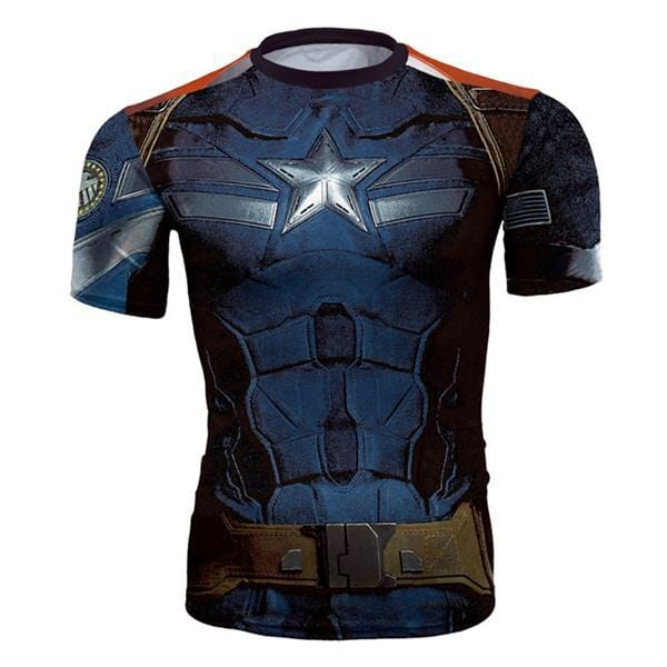 3D Captain America Shirt Summer Marvel Superhero T-Shirt
