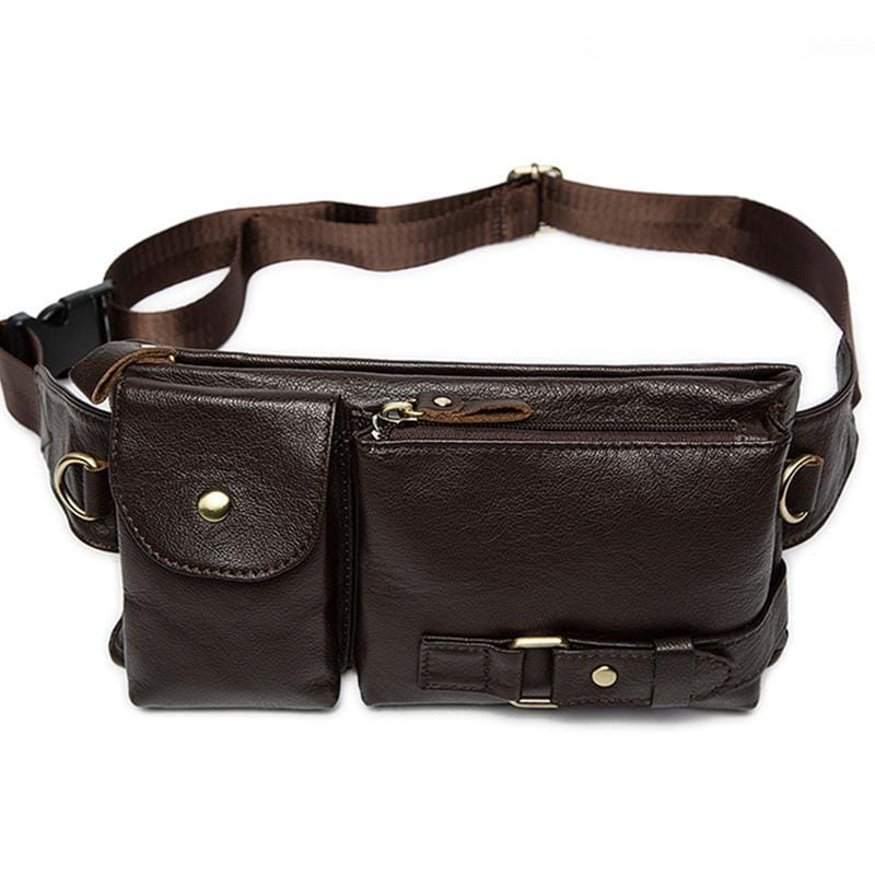 Men's Leather Waist Bag