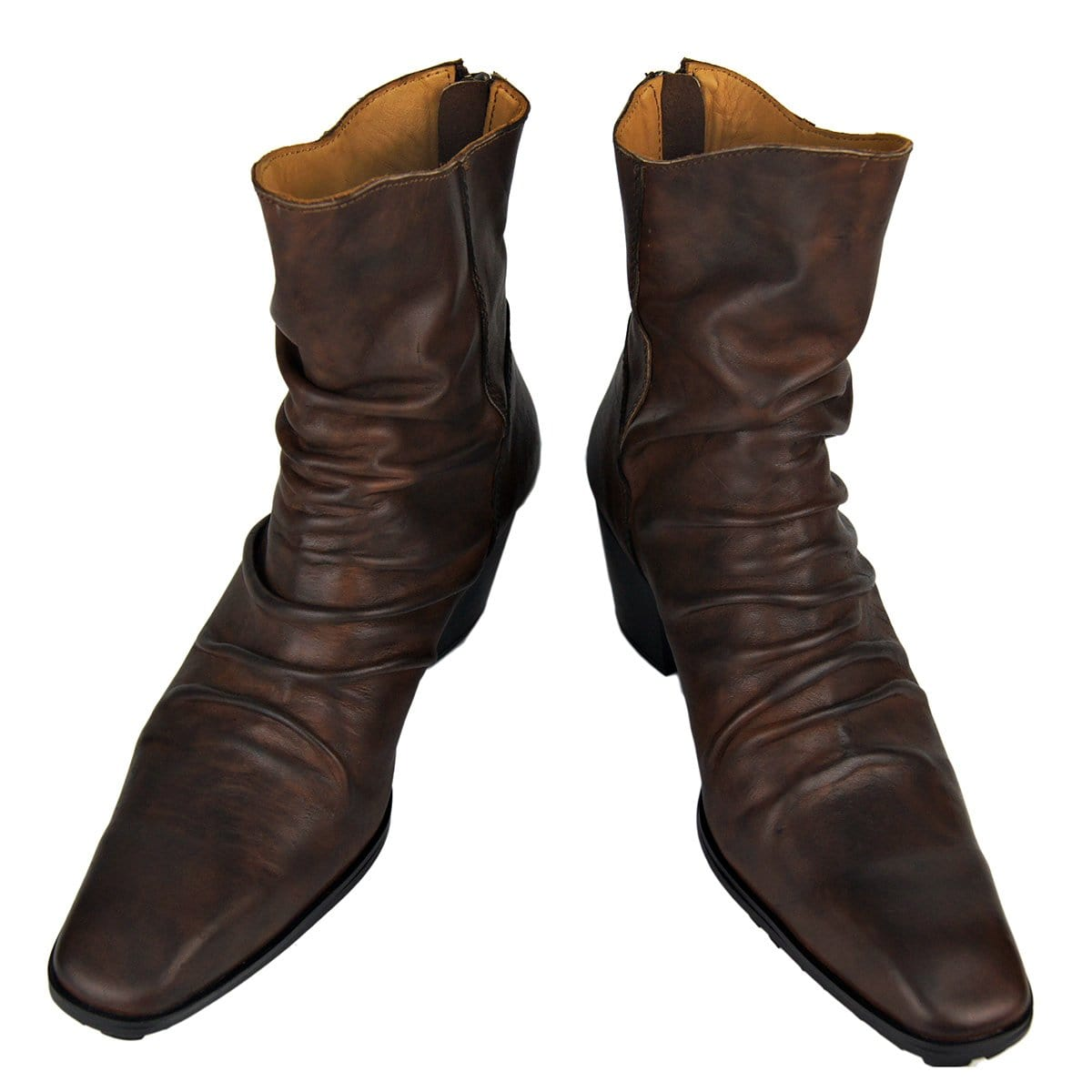 Men's Martin Lace-Up Boots Punk Cow Leather Casual Boots