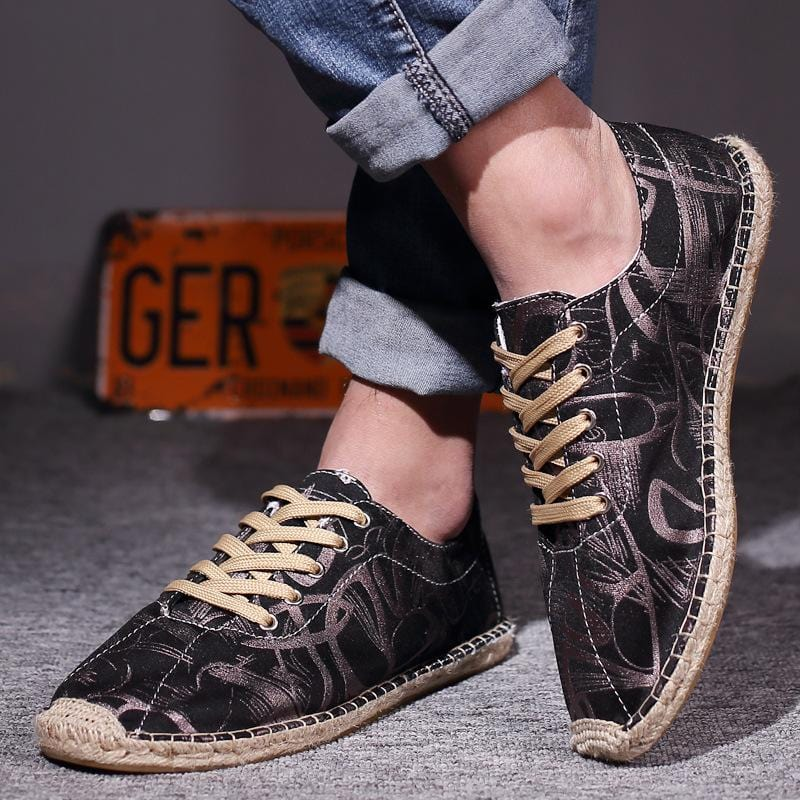 Men Printed Flax shoes