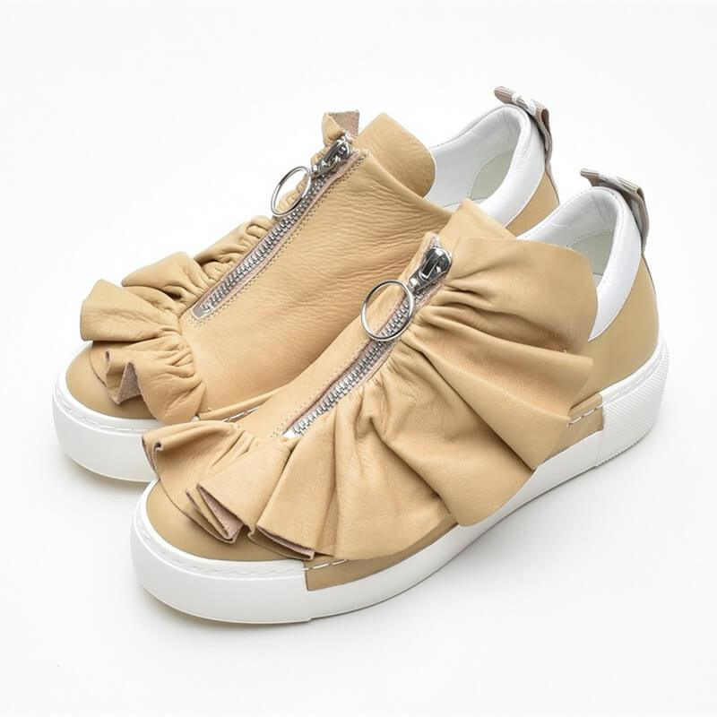 Handmade Leather Falbala Sneakers