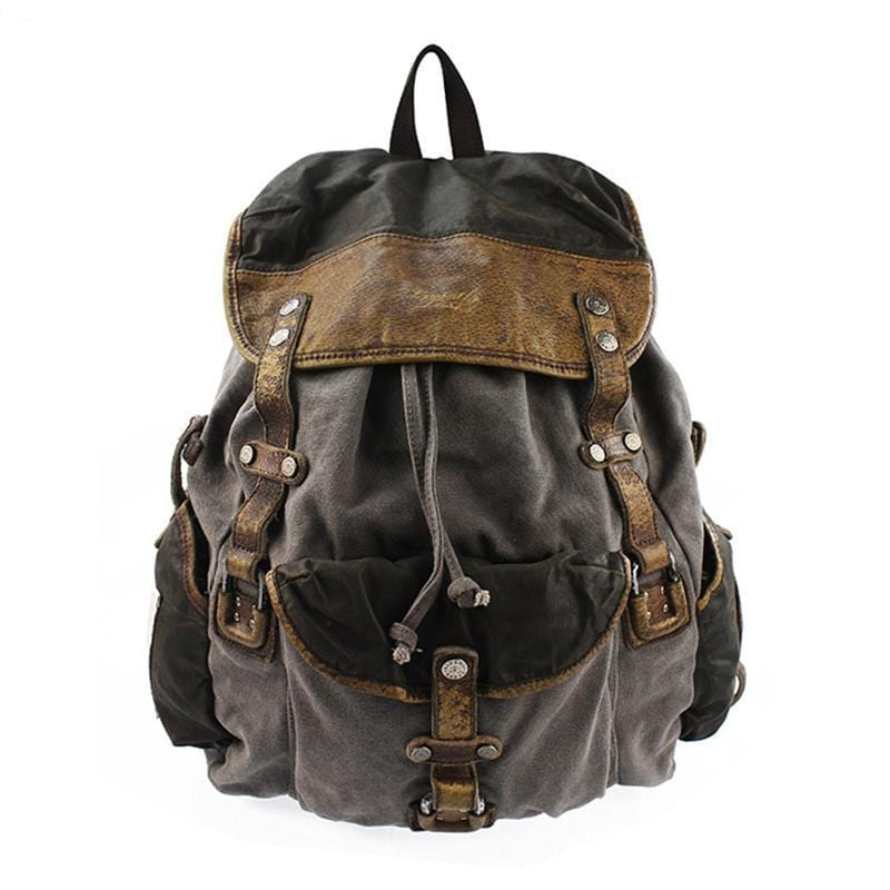 Men's Casual Canvas Backpack Travel Bag