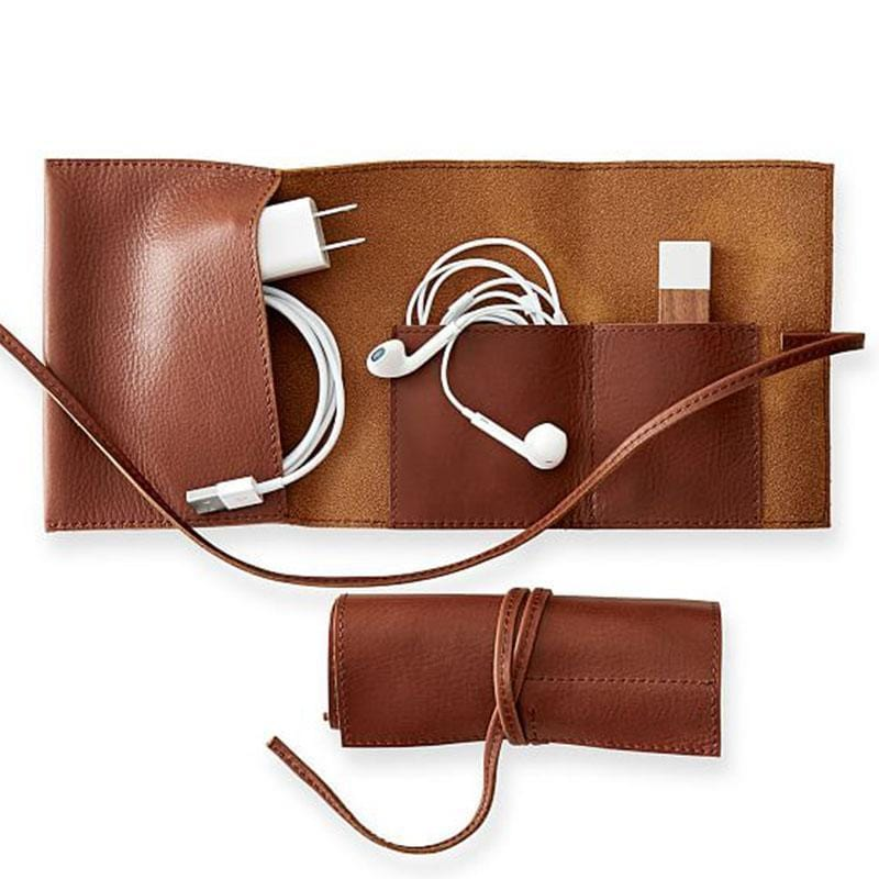 Handmade Leather Charger Storage Package