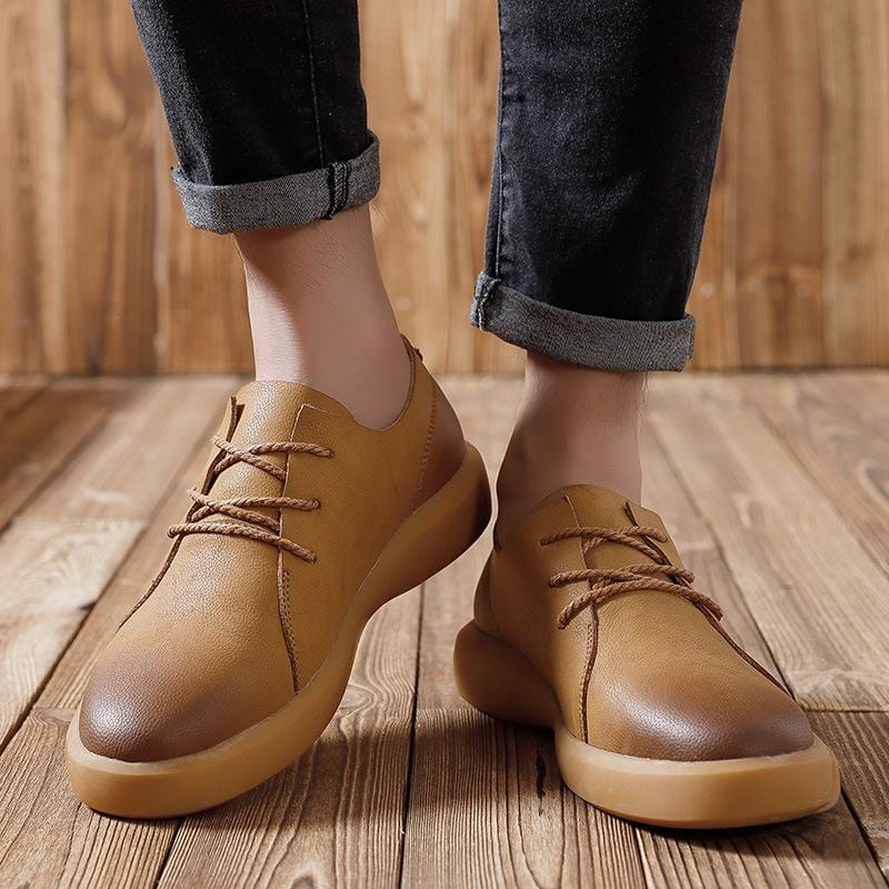 Men's Round Toe Lace-up Casual Shoes