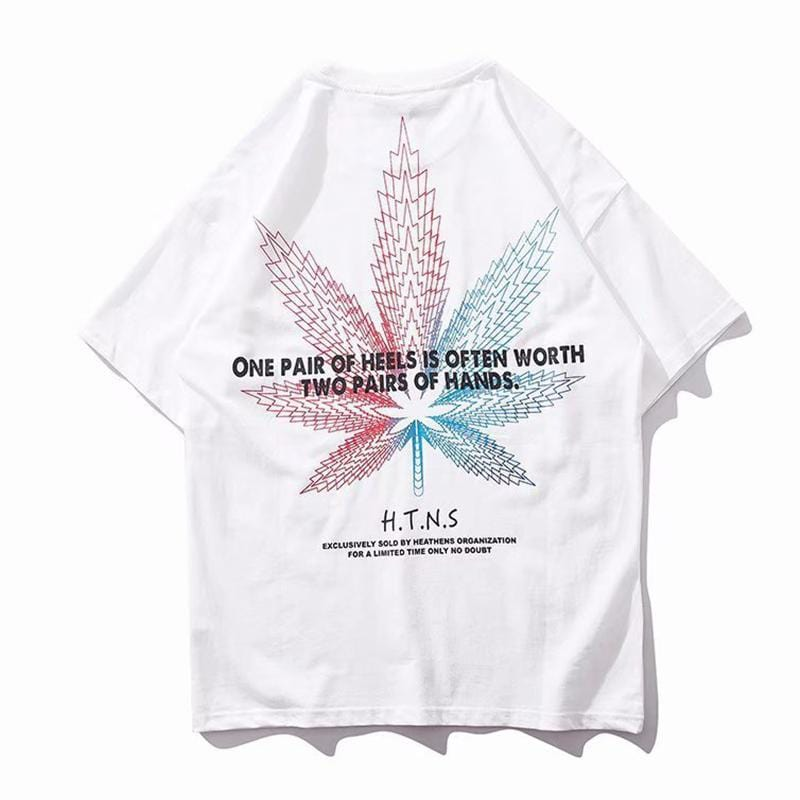 Leaf Printed Tee Couples Clothes