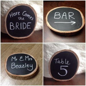 Rustic Wood Blackboard