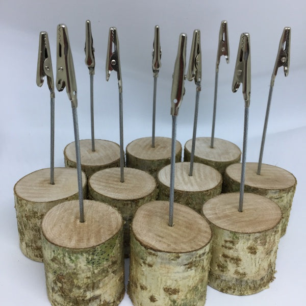 Set of 10 Wood Crocodile Clip Holders