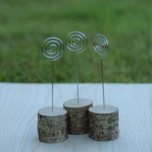 Set of 10 Wood Wire Stands
