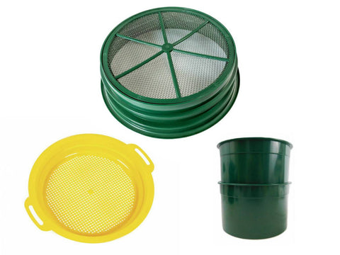 "Plastic Sieves for Gem Screening | 1/8 "" Steel-Mesh Classifiers 