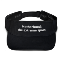 Load image into Gallery viewer, Motherhood: the extreme sport visor