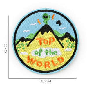 Fashion Embroidered Patches Air Badge Top Gun Space Rocket Astronauts For Boys Backpack Tshirt Clothing Handmade Sewing Applique