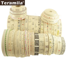 Load image into Gallery viewer, Teramila Cotton Garment labels Ribbons 2m/Lot Etiquetas Handmade DIY Sewing Craft Clothes Quilt Accessories 2.5cm 3cm 4cm Width