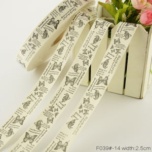 Teramila Cotton Garment labels Ribbons 2m/Lot Etiquetas Handmade DIY Sewing Craft Clothes Quilt Accessories 2.5cm 3cm 4cm Width