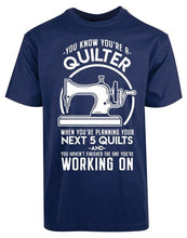 Load image into Gallery viewer, 2019 Summer T Shirt Funny Quilter Quilting Sewing Machine