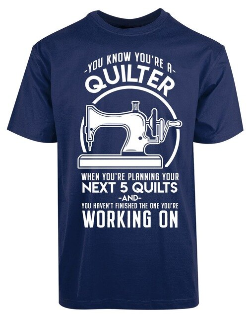 2019 Summer T Shirt Funny Quilter Quilting Sewing Machine
