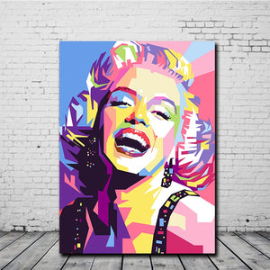 Colourful Marilyn Monroe Canvas Painting