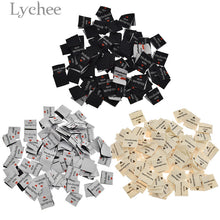 Load image into Gallery viewer, Lychee 100Pcs Handmade With Love Clothing Labels Embossed Tags DIY Flag Labels For Garment Sewing Accessories
