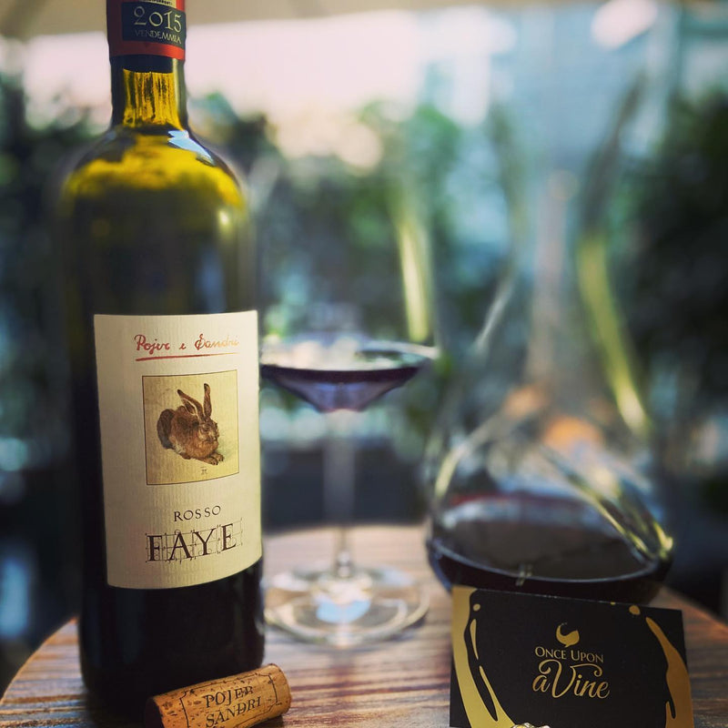 ROSSO FAYE 2015 [Pojer & Sandri] 75cl - Once Upon A Vine Singapore