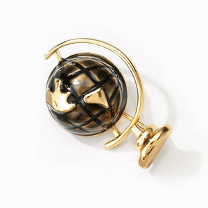 Great Space Life Globe Brooche