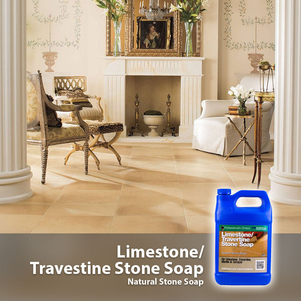 Producto para trapear travestinos y calizas - Limestone Travertine Stone Soap - Miracle Sealants