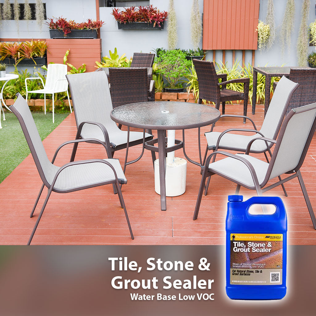 Sellador económico para barro y concreto base solvente - Tile, Stone and Grout Sealer (Solvente) - Miracle Sealants