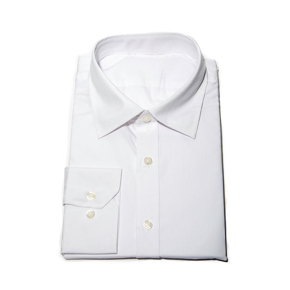 MENS FLIGHT LONG SLEEVE WHITE DRESS SHIRT