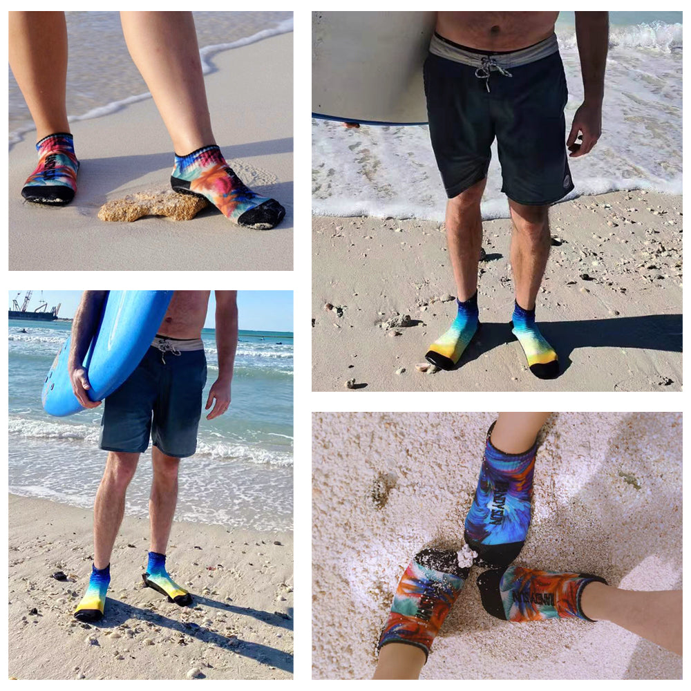 beach socks customer show
