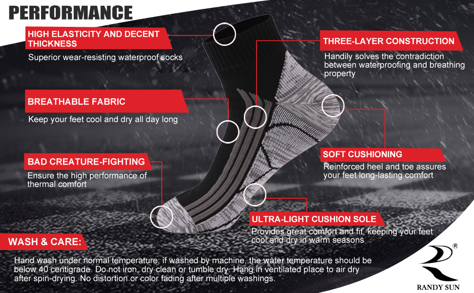 ankle waterproof socks