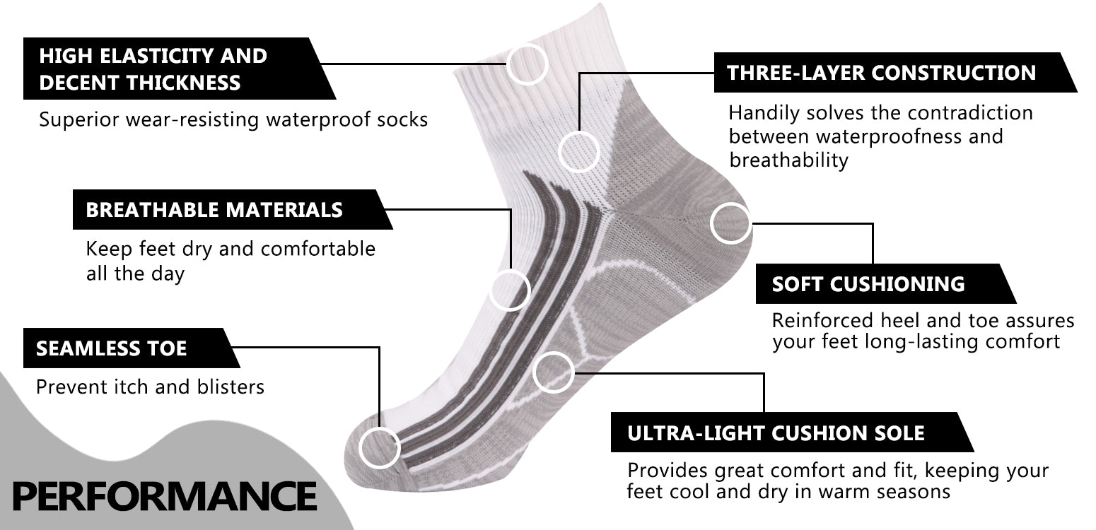 waterproof socks ankle