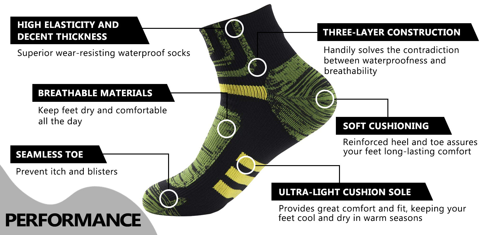 green waterproof socks