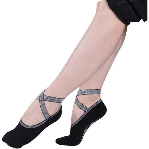 black yoga socks