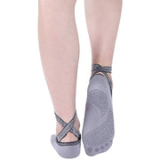grey yoga socks