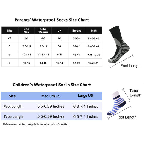 Family Unisex Waterproof Socks B