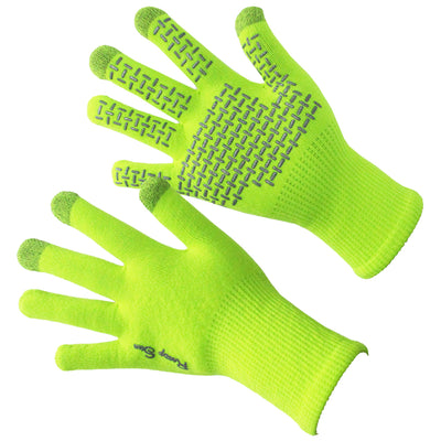 green waterproof gloves