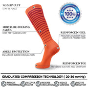 2 Pairs Compression Socks 20-30mmHg
