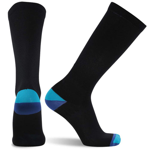 compression socks black blue