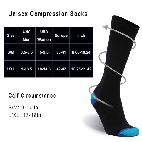 compression socks size chart