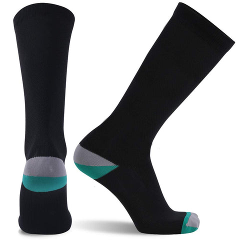 black green compression socks