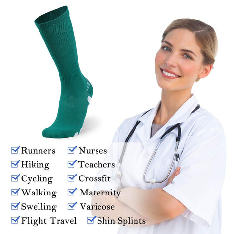 compression socks application