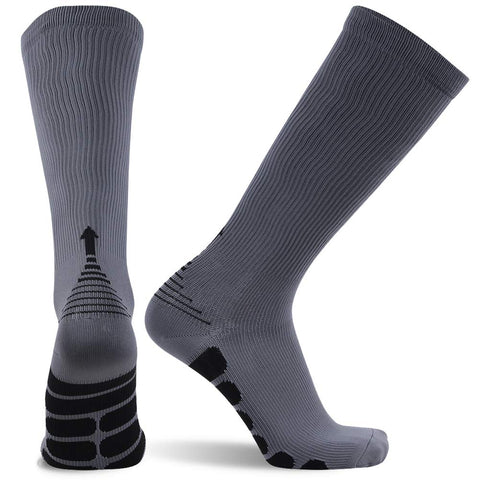 gray compression socks